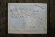 Authentic Vintage 1880 - Turkey in Asia Map #78048v2