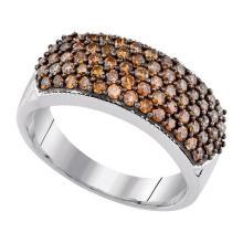 10K White-gold 1.00CTW DIAMOND COGNAC RING #53321v2