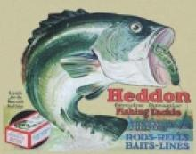 HEDDON FROG'S METAL SIGN #26837v2
