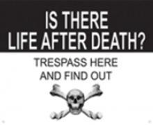 Life After Death METAL SIGN #26728v2