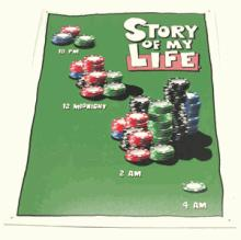 STORY OF MY LIFE METAL SIGN #25186v2