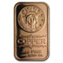 1 oz Copper Bar - Liberty Head #33699v2