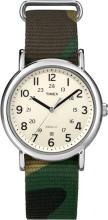 TIMEX WEEKENDER SLIP THROUGH GREEN CAMO WATCH #44635v2