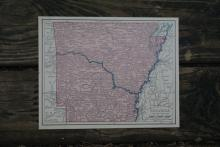 GENUINE AUTHENTIC 1930 MAP OF ARKANSAS #70701v2