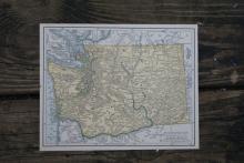 GENUINE AUTHENTIC 1930 MAP OF WASHINGTON #70695v2