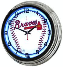 MLB ATLANTA BRAVES NEON WALL CLOCK #44446v2