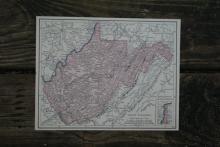 GENUINE AUTHENTIC 1930 MAP OF WEST VIRGINIA #70693v2