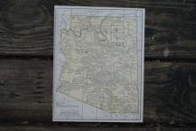 GENIUNE 1930 MAP OF ARIZONA #70699v2