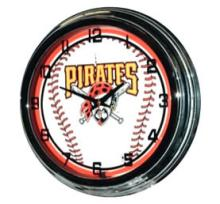 MLB PITTSBURGH PIRATES NEON WALL CLOCK #44450v2