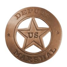 WILD WEST DEPUTY US MARSHAL BADGE (REPLICA) #70949v2