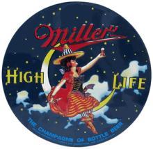 MILLER HIGH LIFE METAL SIGN #24609v2