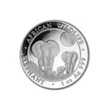 2014 Somalia 1 oz Silver Elephant BU #27215v2