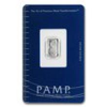 1 gram Platinum Bar - Pamp Suisse (In assay) #17823v2