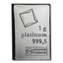 1 gram Platinum Bar - Valcambi #17821v2