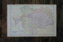 GENUINE AUTHENTIC 1901 MAP OF HUNGARY #70833v2
