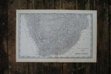 GENIUNE AUTHENTIC 1901 MAP OF SOUTH AFRICA #70819v2