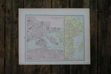 GENUINE AUTHENTIC 1901 MAP OF STOCKHOLME #70861v2
