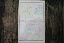 GENUINE AUTHENTIC 1880 MAP OF EVANS NEW YORK #70745v2