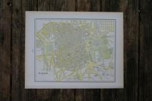 GENUINE AUTHENTIC 1901 MAP OF MADRID #70858v2