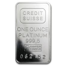 1 oz Platinum Bar - Secondary Market (.999+ Fine) #49581v2