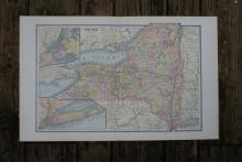 GENUINE AUTHENTIC 1885 MAP OF NEW YORK #70725v2