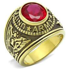 US Army Ring with ruby #90502v2