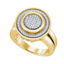 925 Sterling Silver Yellow 0.23CTW DIAMOND MICRO PAVE RING #58356v2