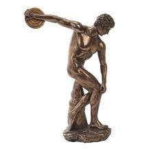 Discovolous Cold Cast Bronze Statue #71198v2