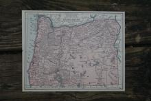 GENUINE AUTHENTIC 1930 MAP OF OREGON #70689v2