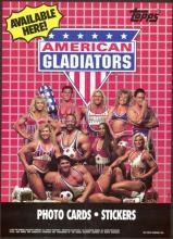 VINTAGE 1991 AMERICAN GLADIATORS TOPPS CARD POSTER #43104v2