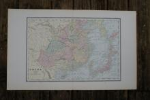GENUINE AUTHENTIC 1885 MAP OF CHINA #70722v2