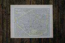 GENUINE AUTHENTIC 1901 MAP OF BRUSSELS #70862v2