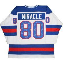 1980 USA Hockey Team Signed USA Jersey w/ Inscriptions (17 Signatures) #71970v2