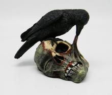 CROW EATING SKULL #48515v2