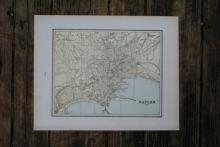 GENUINE AUTHENTIC 1901 MAP OF NAPLES #70863v2