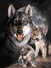 WOLF METAL SIGN #25163v2