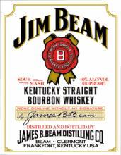 JIM BEAM METAL SIGN #25115v2