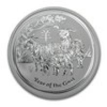 2015 Australia 2 oz Silver Year of the Goat BU #17685v2