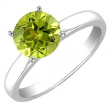 PERIDOT 4.25 CTW SOLITAIRE RING 14K W/Y GOLD #22975v2