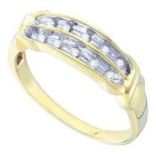 10KT Yellow Gold 0.13CTW DIAMOND LADIES CLUSTER BAND #55304v2