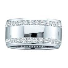 14KT White Gold 1.0CTW DIAMOND ETERNITY BAND #56159v2