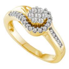 14K Yellow-gold 0.33CTW DIAMOND FLOWER RING #53561v2