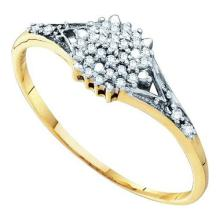 10KT Yellow Gold 0.11CTW DIAMOND CLUSTER RING #57923v2