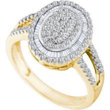 10KT Yellow Gold 0.53CTW DIAMOND CLUSTER RING #53837v2