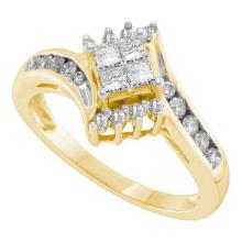 14KT Yellow Gold 0.49CTW DIAMOND INVISIBLE RING #54439v2