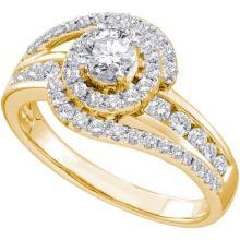 14KT Yellow Gold 1.00CTW ROUND DIAMOND LADIES BRIDAL RING WITH 0.33CTW ROUND CENTER #56437v2