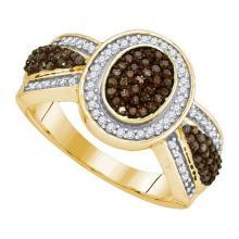 10K Yellow-gold 0.50CTW COGNAC DIAMOND FASHION RING #54344v2