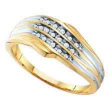 10KT Yellow Gold 0.08CTW DIAMOND LADIES FASHION BAND #55518v2