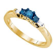 10K Yellow-gold 0.27CT DIAMOND FASHION RING #62780v2