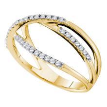 14KT Yellow Gold 0.21CTW DIAMOND FASHION BAND #52736v2